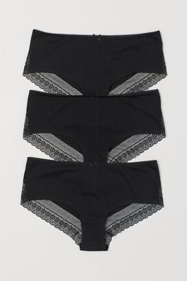 H&M 3-pack Hipster Briefs - Black