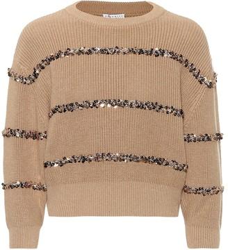 Brunello Cucinelli Dazzling Stripes cotton sweater