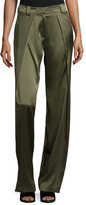 Rag & Bone Carlos Draped Silk Pants, Army Green
