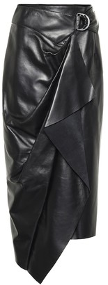 Isabel Marant Fiova leather wrap skirt