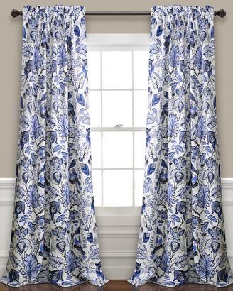 Triangle Home Fashion Cynthia Jacobean Room Darkening Window Curtain Panels