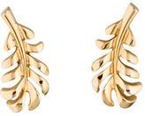 Chanel 18K 1932 Plume Earrings