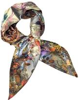 Christian Lacroix Delicias Mundi Print Silk Square Scarf