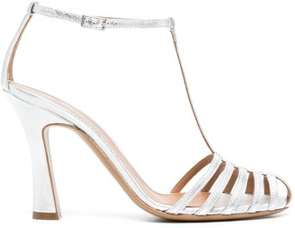 Emporio Armani Caged-Toe Sandals