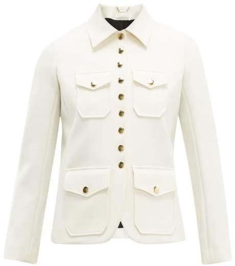 b134055420 Single Breasted Twill Utility Jacket - Womens - Ivory