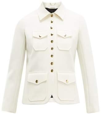 Chloé Single Breasted Twill Utility Jacket - Womens - Ivory