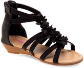 Josmo Girls' Closed-Back Floral Sandals