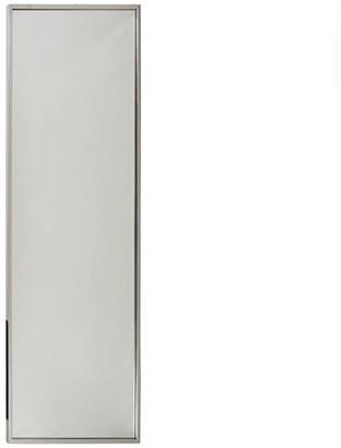 Gdfstudio Louise Modern Rectangular Standing Mirror, Stainless Finish