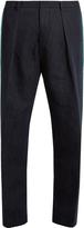 TOMORROWLAND Contrast-stripe wide-leg cotton-blend trousers