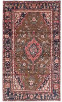 Ecarpetgallery Hand-knotted Hamadan Brown Wool Rug (3'11 x 6'9)