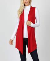 Zenana Women's Open Cardigans DK.RED_IPB - Dark Red Open-Front Vest - Women