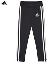 adidas Black Branded 3 Stripe Leggings