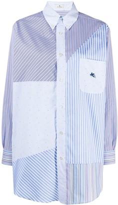 Etro Patchwork Cotton Button-Down Shirt