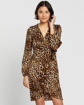 Vero Moda Women's Brown Mini Dresses - Gamma Wrap Dress - Size One Size, S at The Iconic