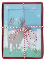 Paper Magic 12ct Moose-Tri Fold Holiday Boxed Cards