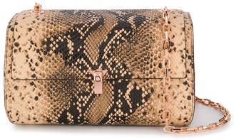 THE VOLON Snakeskin-Effect Crossbody Bag