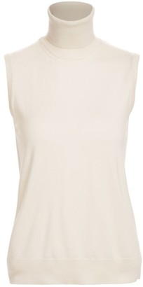 Ralph Lauren Sleeveless Turtleneck Cashmere Sweater