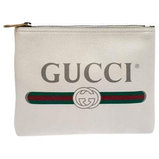 Gucci \N White Leather Clutch bags