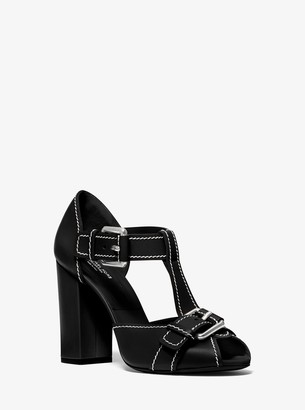 Michael Kors Hillary Leather Sandal