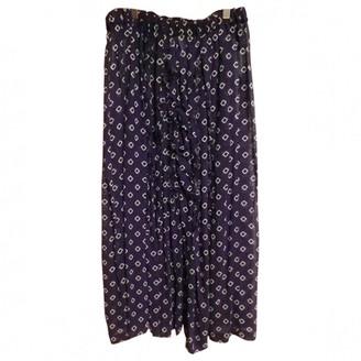 Comme des Garcons Purple Synthetic Trousers