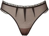 Black Arlequine Thong