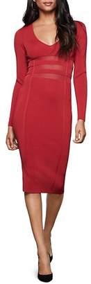 Good American Mesh-Inset Midi Dress