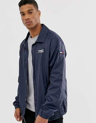 Tommy Jeans solid coach jacket-Navy