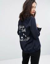 Maison Scotch Cool Girl Embroidered Bowling Shirt