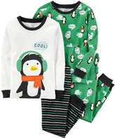 Carter's 4 Piece Penguin PJ Set - Print - 10