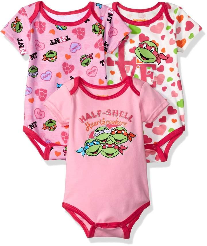 Nickelodeon Baby Girls' Ninja Turtles 3 Pack Bodysuit