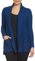 Chaus Solid Open-Front Cardigan