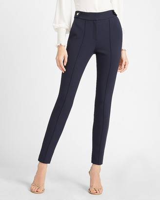 Express High Waisted Soft & Sleek Button Tab Skinny Pant