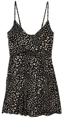 O'Neill Karleen Ditsy Dress (Black) Women's Clothing