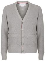Thom Browne Waffle Knit Buttoned Cardigan