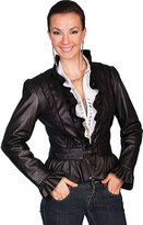 Scully Women's Ruffle Trimmed Lamb Jacket L619