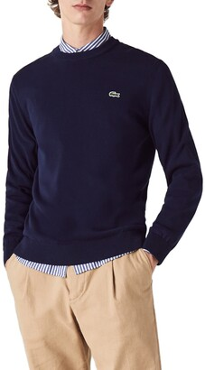 Lacoste Solid Cotton Jersey Crewneck Sweater