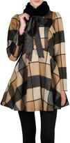 Ryu Camel Checkered Coat