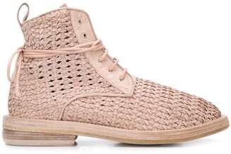 Marsèll Woven 35mm Heel Ankle Boots
