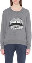 Markus Lupfer Lara Lip Joey sequin-embellished merino-wool jumper