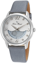 Lucien Piccard Silver & Gray Bellaluna Crystal Leather-Strap Watch - Women