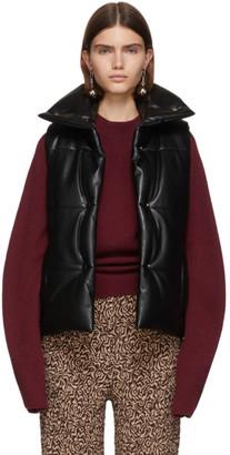 Nanushka Black Vegan Leather Morillo Vest