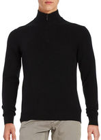Black Brown 1826 Quarter Zip Cashmere Sweater
