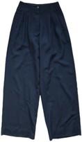 Jean Paul Gaultier Blue Wool Trousers for Women