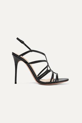 Alexandre Birman Emma Cage Leather Sandals - Black