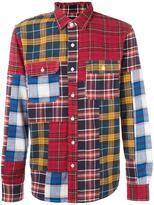 Stussy chest pockets plaid shirt