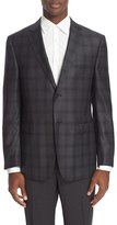 Z Zegna Men's Trim Fit Plaid Wool Sport Coat