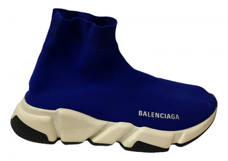 Balenciaga Speed Blue Cloth Trainers