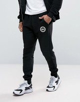 Hype Skinny Joggers In Black Rib