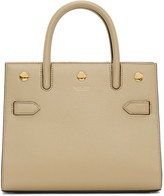 Burberry Beige Mini Two-Handle Title Bag
