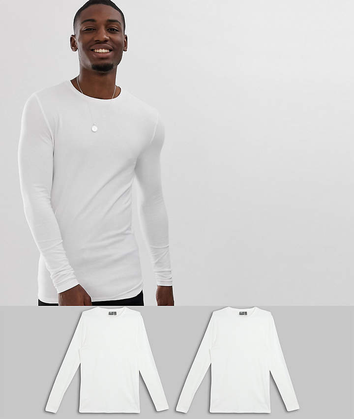 ffdb5d376e33 Asos White Fitted Men's Shirts - ShopStyle